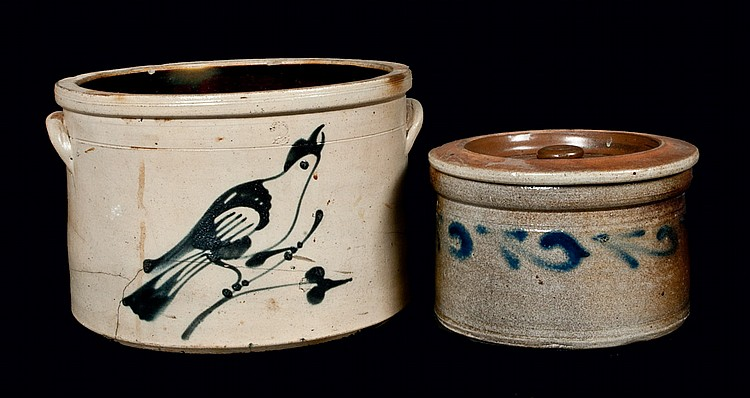 Lot of Two: New Jersey Stoneware Crocks