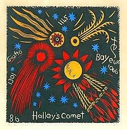 BRUCE GOOLD (Born 1948) - Halleys's Comet, Images of the Comet for George and Mary 30cm x 30cm