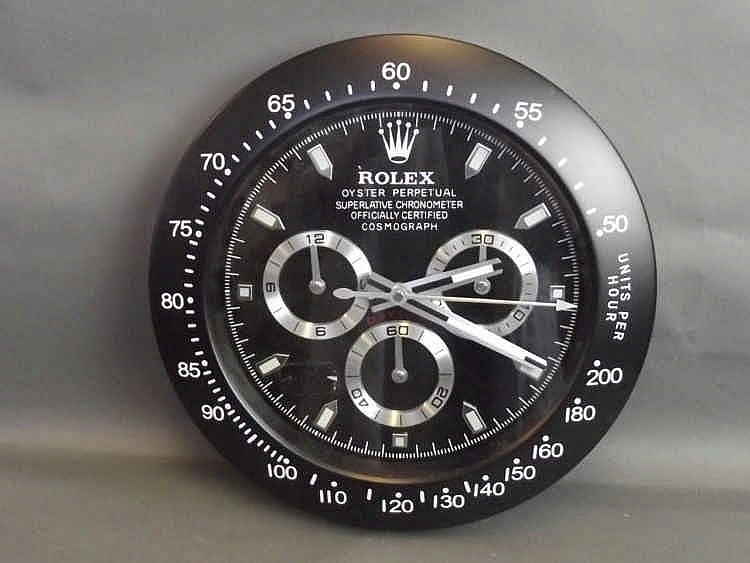 A Rolex Style Daytona Wall Clock 13 188 Diameter