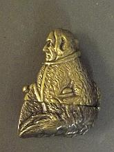 An unusual C19th brass vesta in the form of a
