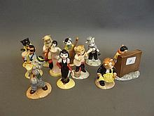 A complete Beswick pottery cat jazz band, 4½''