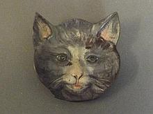 A cold painted bronze ashtray in the form of a