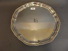 A good Elkington silver plated salver with a