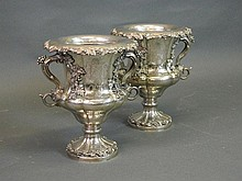 A superb pair of early C19th Sheffield plate twin