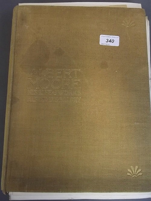 One volume 'Albert Moore, his life and works' by