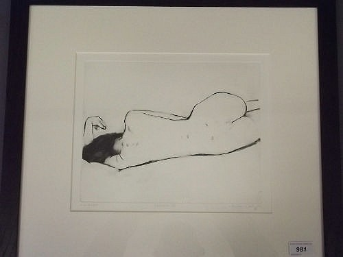 Neale Worley, 'Cecilia IV', monoprint, signed and