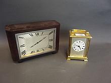 A brass carriage clock by Shortland Bowen, 5