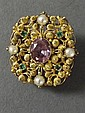 A Georgian gold and amethyst brooch