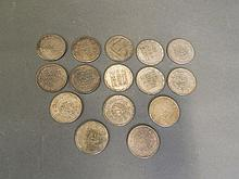 A collection of 15 Chinese coins