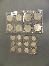 A small collection of coins