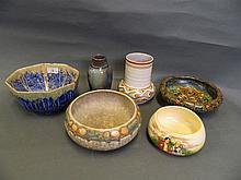 A quantity of Art Deco pottery to include Gouda,