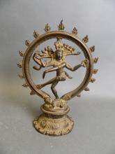 An Indian bronze ornament, 'The Dance of Shiva', 8