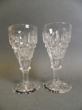 A pair of John Walsh Walsh 'Kenilworth' pattern stemmed wine glasses, 4½
