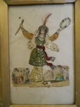 A C19th scrapwork picture of the actress Miss Foote playing the slave Morgiana from the Ali Baba story, 8