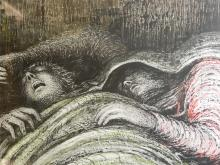 Henry Moore, 'Pink & Green Sleepers', Limited Edition litho print, printed in Australia, 22