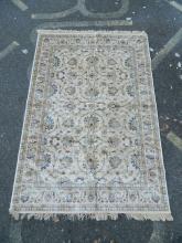 A Kashmiri ivory ground carpet with Ziegler design, 61