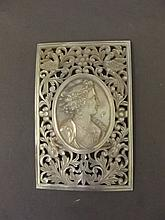A C19th carved Mother of Pearl plaque decorated