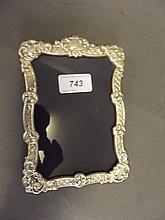 A silver photo frame, Birmingham 958, 4¾'' x 6¾''