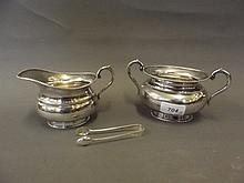 A Sterling silver twin handled bowl and the
