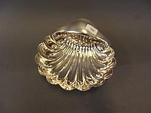 A large Hallmarked silver shell shaped dish,
