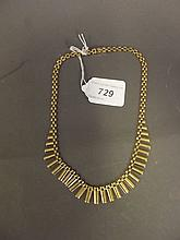 A Hallmarked 9ct gold necklace, 20g