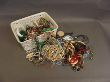 A collection of assorted costume jewellery to include bracelets, earrings, necklaces etc