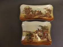 Two Royal Doulton Series ware 'Rustic England' serving plates, largest 11