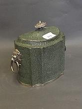 A 19th Century silver plate and faux shagreen twin