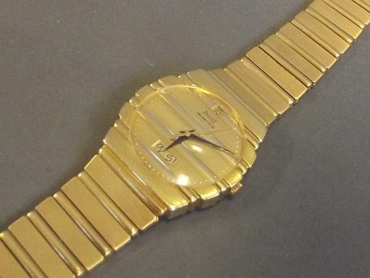 An 18ct gold gentleman's Plaget Polo wristwatch