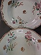 A good set of 8 C18th Chinese famille rose dishes