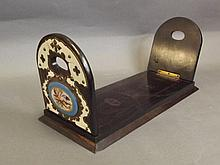 A Victorian bookslide mounted with Sevres style