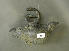 A C19th Oriental bronze temple decoration in the