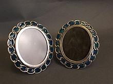 A pair of oval Continental silver and