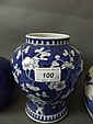 A C19th Chinese blue and white vase painted with