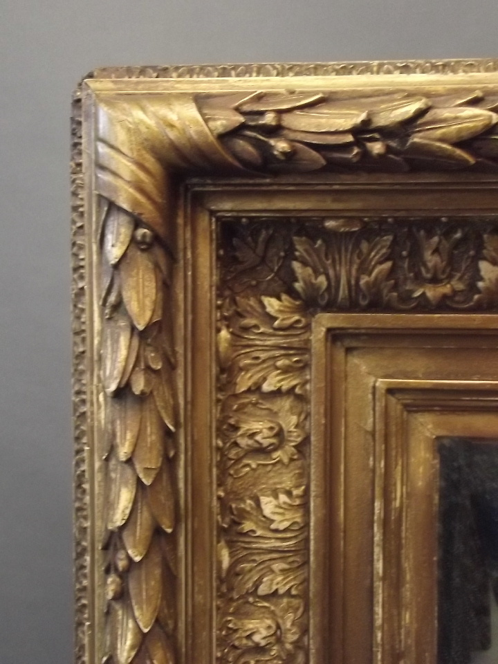 A good c19th giltwood and composition frame with acanthus de for Miroir 50 x 60