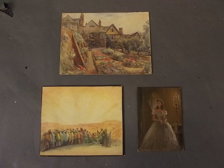 T wickens a small oil on canvas board young wom for Small canvas boards