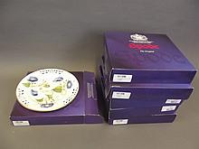 A set of six Spode Limited Edition cabinet plates, in boxes, 9'' diameter