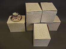 A set of six Spode coffee cans and saucers, original boxes