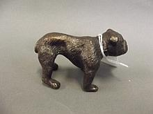 A bronze figure of an English bulldog, 3½