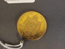 A French 100 franc 24ct gold coin, 1866, 33g