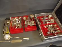 An extensive Continental 800 standard silver cutlery service, approximately 203 pieces