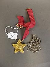 Two large Masonic medals, 'Society of London
