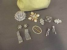 A quantity of paste set jewellery, Best Bid
