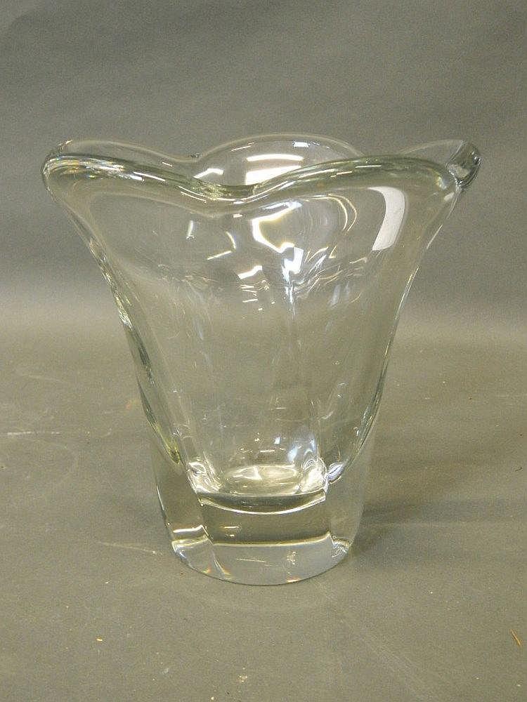 shaped glass vase