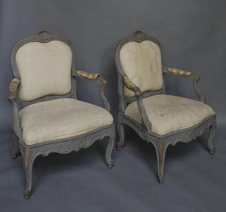 Pair of Swedish Armchairs from the Biby Estate in S?dermanland