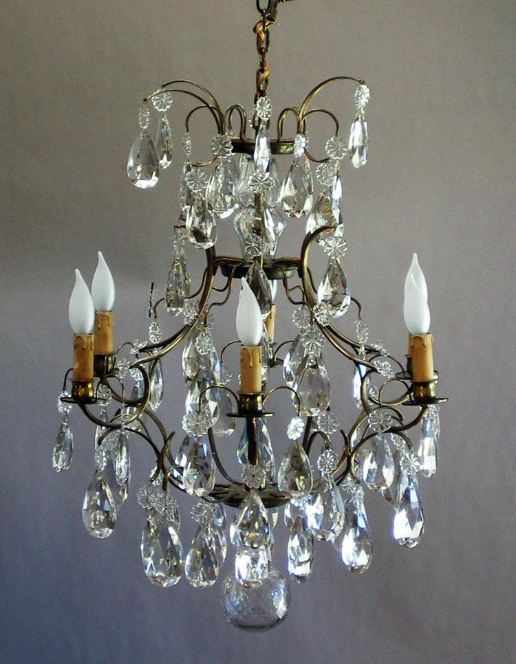 Crystal Chandelier with Six Lights
