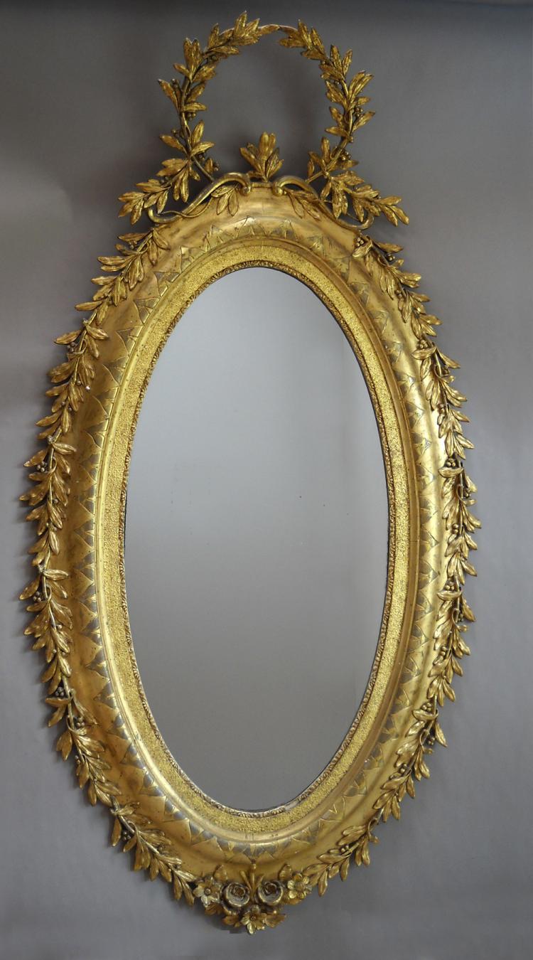 Large Carved Swedish Mirror