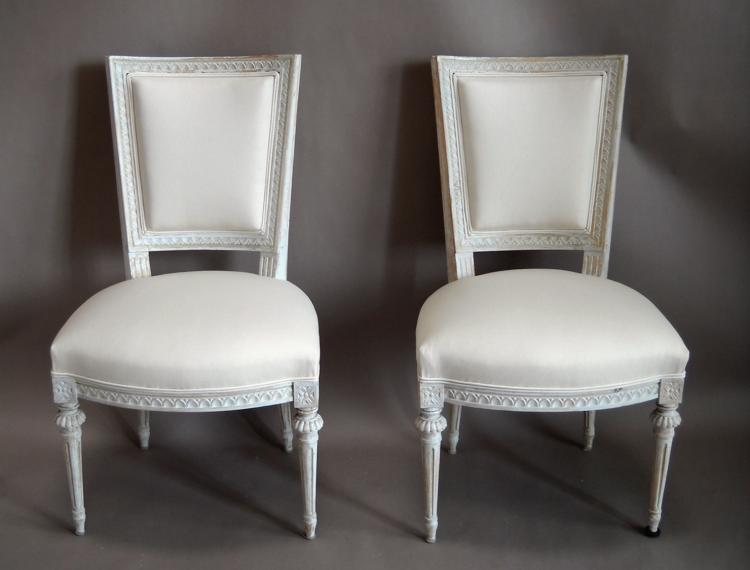 Pair of Square-Backed Swedish Chairs