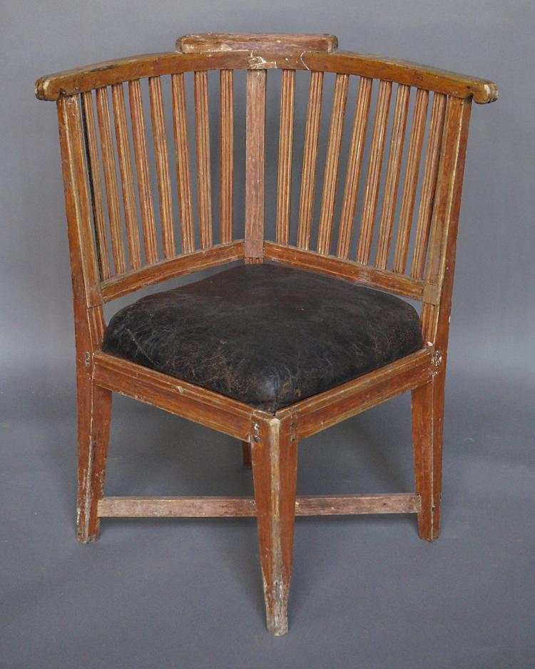 Period Gustavian Corner Chair