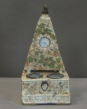 German Ceramic Inkwell and Watch Stand
